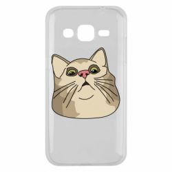 Чехол для Samsung J2 2015 Surprised cat