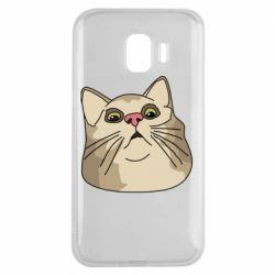 Чехол для Samsung J2 2018 Surprised cat