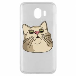 Чехол для Samsung J4 Surprised cat