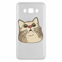 Чехол для Samsung J5 2016 Surprised cat
