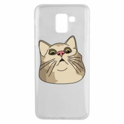 Чехол для Samsung J6 Surprised cat