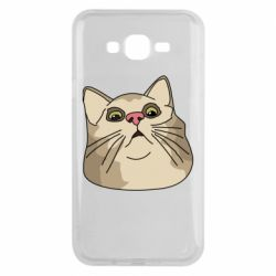 Чехол для Samsung J7 2015 Surprised cat