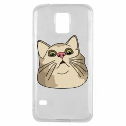 Чехол для Samsung S5 Surprised cat
