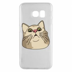 Чехол для Samsung S6 EDGE Surprised cat