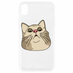 Чехол для iPhone XR Surprised cat