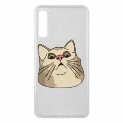 Чехол для Samsung A7 2018 Surprised cat