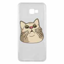 Чехол для Samsung J4 Plus 2018 Surprised cat