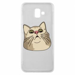 Чехол для Samsung J6 Plus 2018 Surprised cat