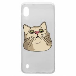 Чехол для Samsung A10 Surprised cat