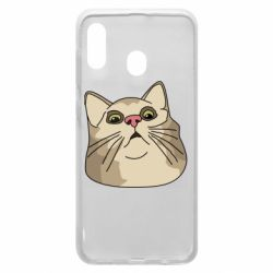 Чехол для Samsung A20 Surprised cat