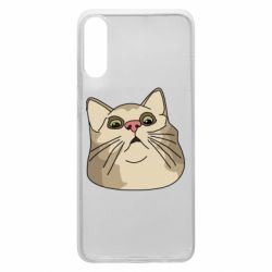 Чехол для Samsung A70 Surprised cat