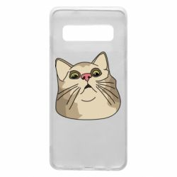 Чехол для Samsung S10 Surprised cat