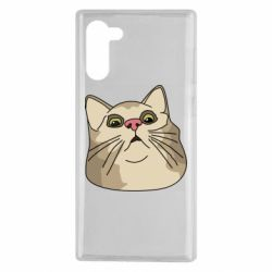 Чехол для Samsung Note 10 Surprised cat