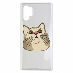 Чехол для Samsung Note 10 Plus Surprised cat