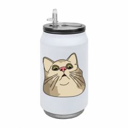 Термобанка 350ml Surprised cat