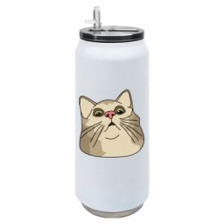 Термобанка 500ml Surprised cat