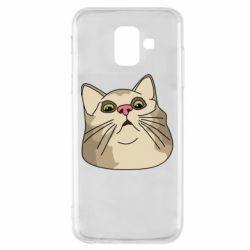Чехол для Samsung A6 2018 Surprised cat