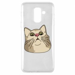 Чехол для Samsung A6+ 2018 Surprised cat