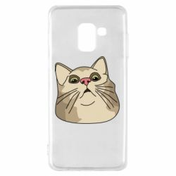 Чехол для Samsung A8 2018 Surprised cat