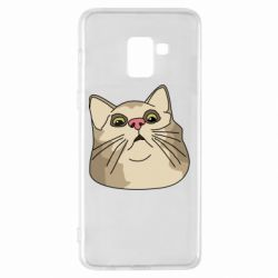 Чехол для Samsung A8+ 2018 Surprised cat
