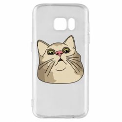 Чехол для Samsung S7 Surprised cat