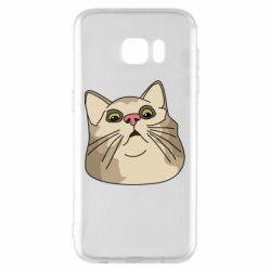 Чехол для Samsung S7 EDGE Surprised cat