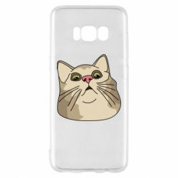 Чехол для Samsung S8 Surprised cat