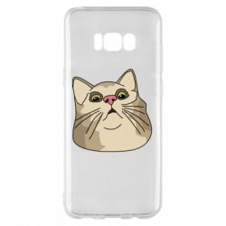 Чехол для Samsung S8+ Surprised cat