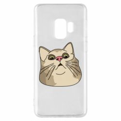 Чехол для Samsung S9 Surprised cat
