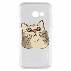 Чехол для Samsung A3 2017 Surprised cat