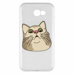 Чехол для Samsung A7 2017 Surprised cat