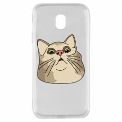 Чехол для Samsung J3 2017 Surprised cat