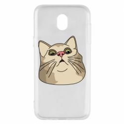 Чехол для Samsung J5 2017 Surprised cat