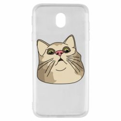 Чехол для Samsung J7 2017 Surprised cat
