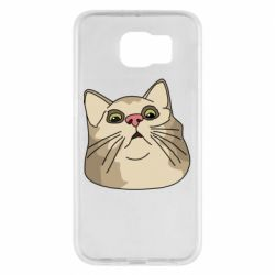 Чехол для Samsung S6 Surprised cat