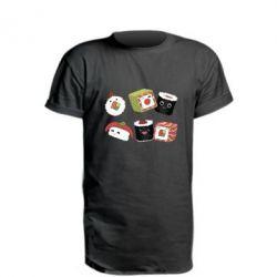 Подовжена футболка Sushi