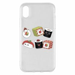 Чохол для iPhone X/Xs Sushi