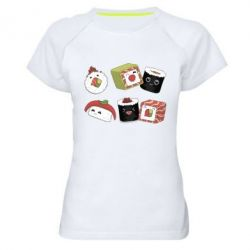 Жіноча спортивна футболка Sushi