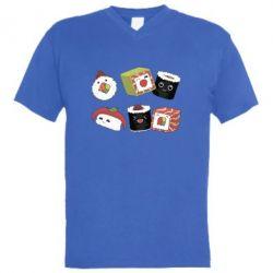 Чоловіча футболка з V-подібним вирізом Sushi