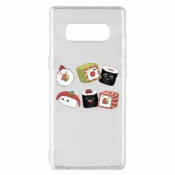 Чохол для Samsung Note 8 Sushi
