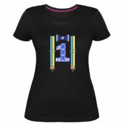 Женская стрейчевая футболка Первоклассник