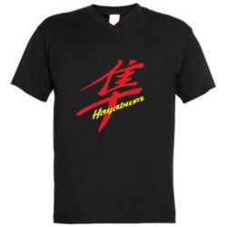 Мужская футболка  с V-образным вырезом Suzuki Hayabusa - FatLine