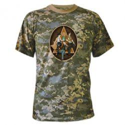 Камуфляжная футболка Сверхъестественное Арт - FatLine