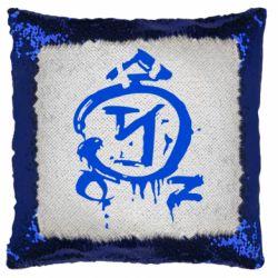 Подушка-хамелеон Сверхъестественное логотип