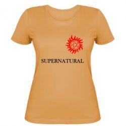 Женская футболка Сверхъестественное звезда - FatLine