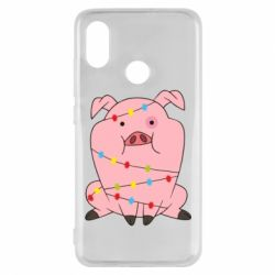 Чехол для Xiaomi Mi8 Свинья обмотанная гирляндой