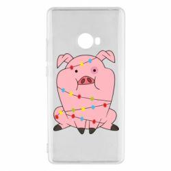 Чехол для Xiaomi Mi Note 2 Свинья обмотанная гирляндой