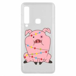 Чохол для Samsung A9 2018 Свиня обмотана гірляндою