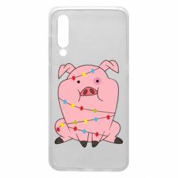 Чехол для Xiaomi Mi9 Свинья обмотанная гирляндой