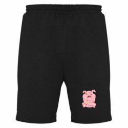 Чоловічі шорти Свиня обмотана гірляндою